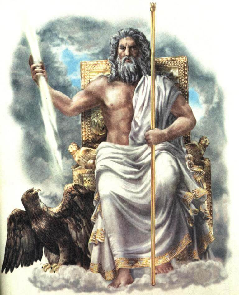 Главный бог у древних греков, покровитель богов и людей?