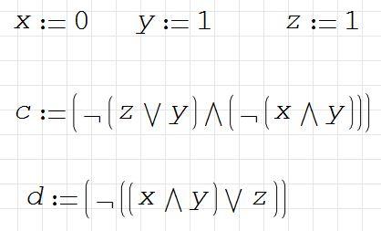 1) Вычислите данные логические выражения