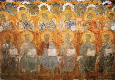 фрагмент фрески Страшный суд