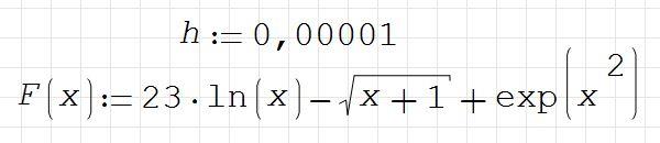 19) Решите уравнение F(x)=0 с заданной точностью h (определите состав корня: цифры до запятой и после)