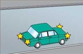 Что означают мигающие спереди и сзади огни у автомобиля?