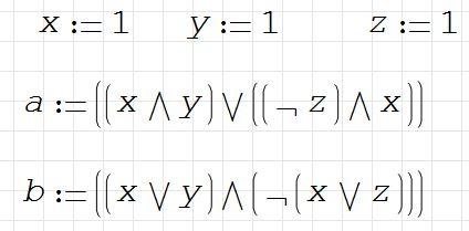 1) Результаты логических выражения равны ...
