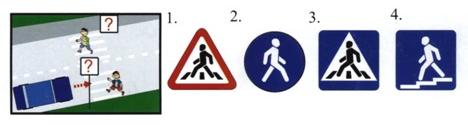 На картинке изображена ситуация. Какой дорожный знак следует разместить в этом случае?