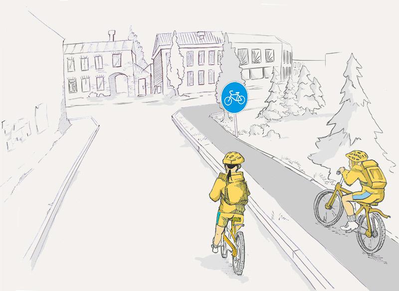 Кто из велосипедистов не нарушает правила?