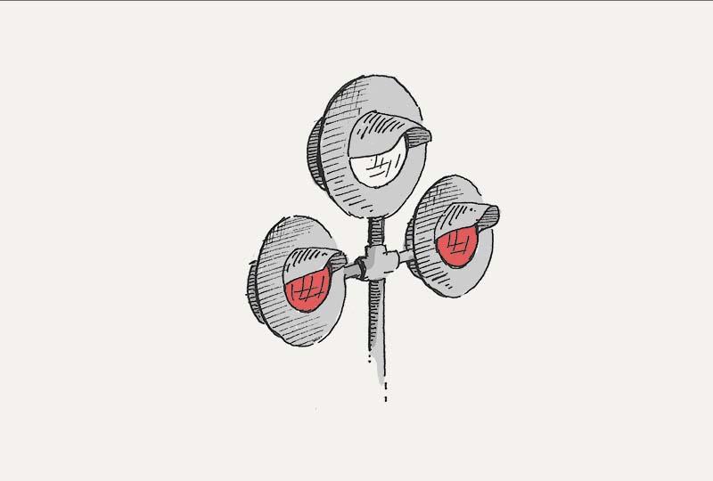 Мигающие красные сигналы данного светофора: