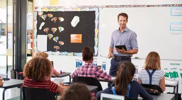 Где самый высокий процент мужчин среди школьных учителей?