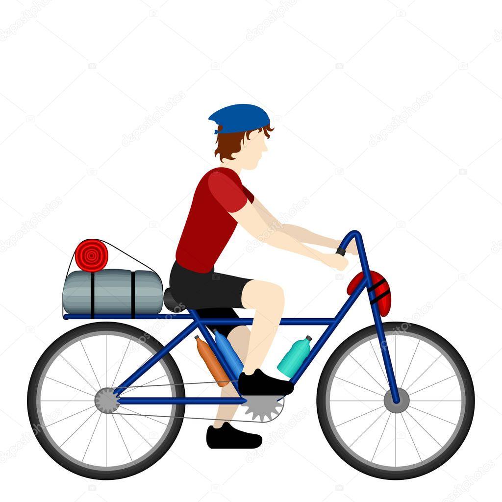 Может ли велосипедист перевозить грузы ?
