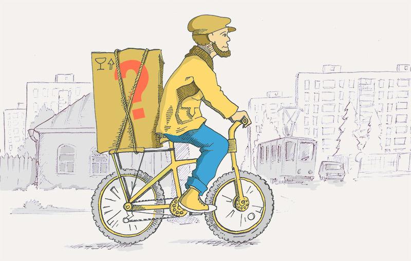 Какие грузы разрешается перевозить велосипедисту?