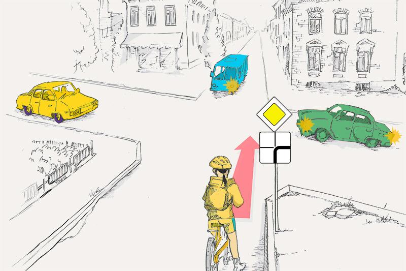 В каком порядке проедут перекресток транспортные средства?