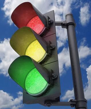 Какие сигналы светофора можно увидеть одновременно?