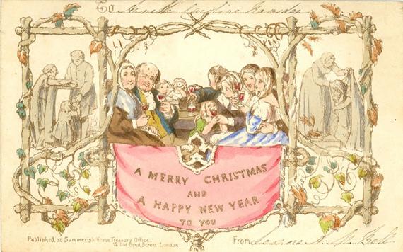 Кто заказал первую рождественскую открытку?