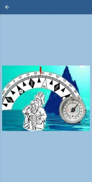 98. По команде капитана - Ease to five - ситуация, показанная на рисунке, рулевой должен установить руль на отметку