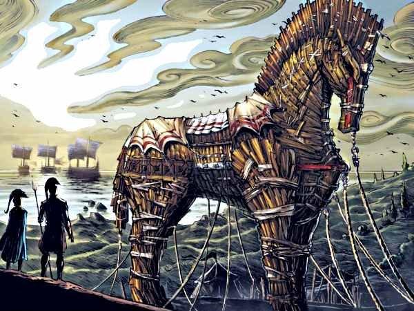 Виновником развязывания Троянской войны, согласно поэме Гомера Илиада, стал сын царя Приама