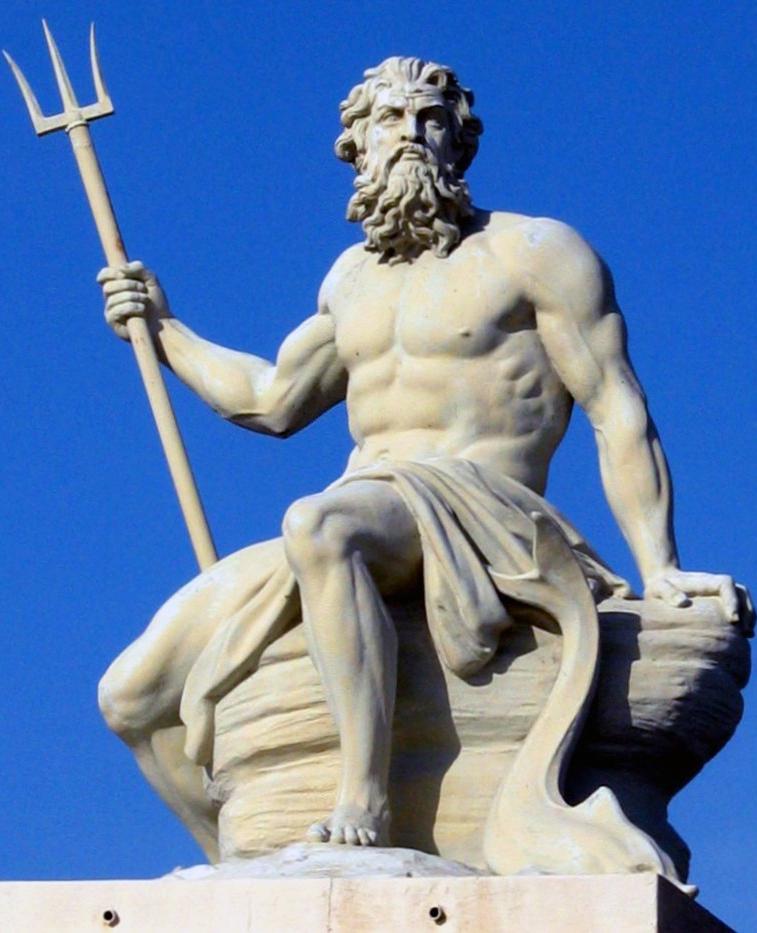 Какого бога греки изображали с трезубцем в руках: