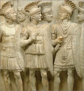 Какое название носили изображнные на рельефе охранники императора